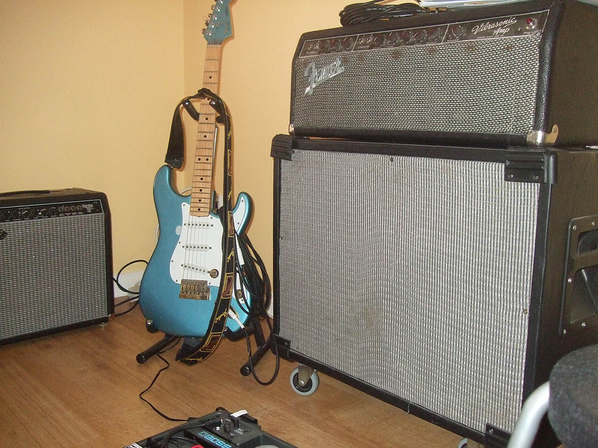 Amps and guitar